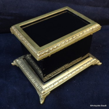 French Little Box bronze and black in Boulle 19th
