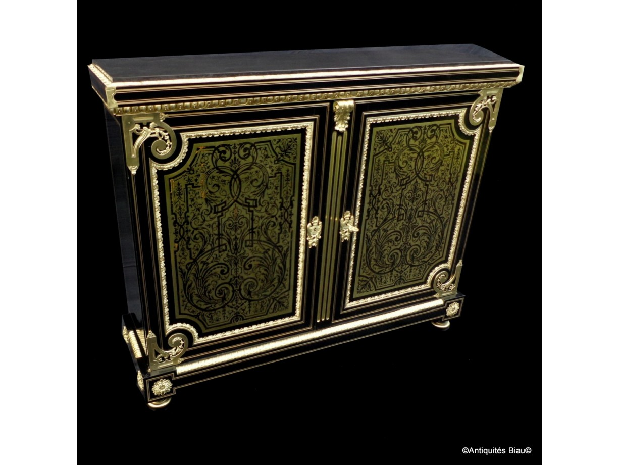 Furniture L XIV with 2 doors in Boulle marquetry 19th