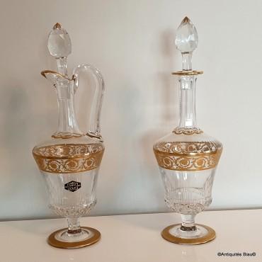 Carafe / Aiguière Saint Louis Thistle Or Cristal