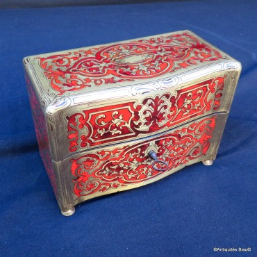 Jewelry Box  in Boulle marquetry Napoleon III period 19th