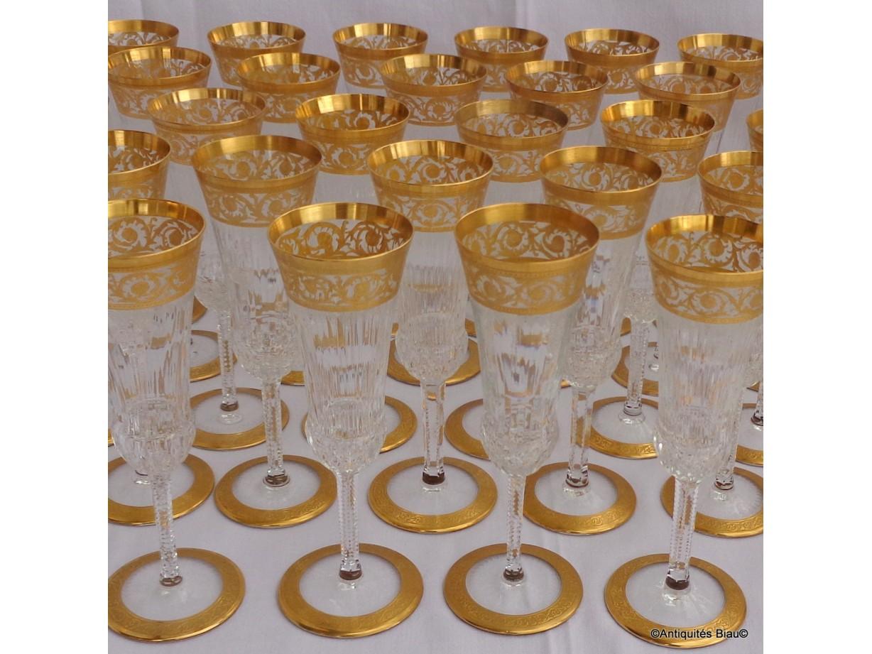 Flûte à Champagne St Louis Thistle Or