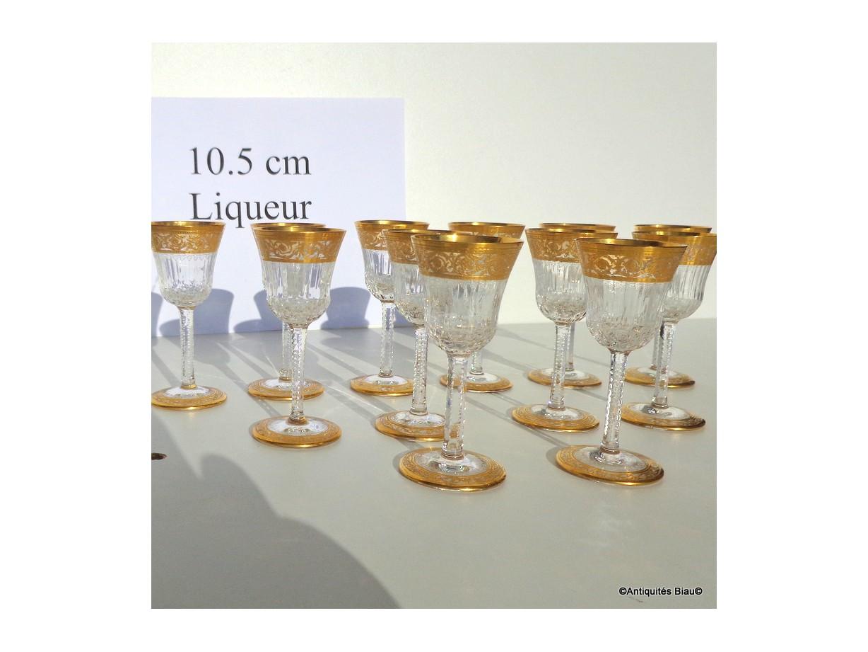 verres à Liqueur St Louis Thistle Or Cristal